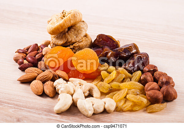 Dried fruits and nuts - csp9471071