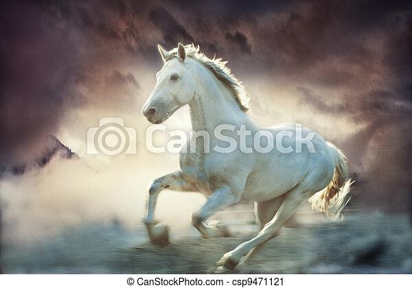 fantasie, Pferd - csp9471121