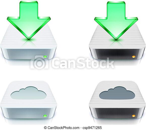 cloud storage and download concept - csp9471265