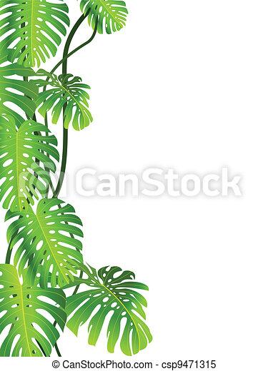Vecteur clipart de exotique plante fond vecteur for Plante jungle