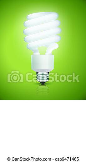 fluorescent lightbulb - csp9471465