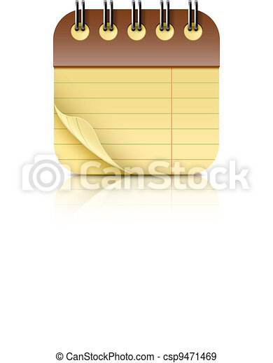 coil bound notebook icon - csp9471469
