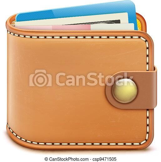 realistic closed wallet - csp9471505