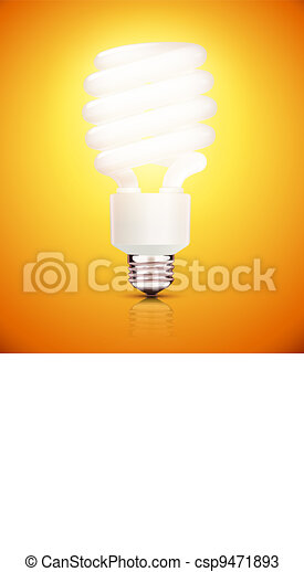 fluorescent lightbulb - csp9471893