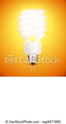 fluorescent lightbulb - csp9471893