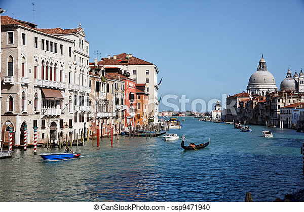 italy, venice, grand canal - csp9471940