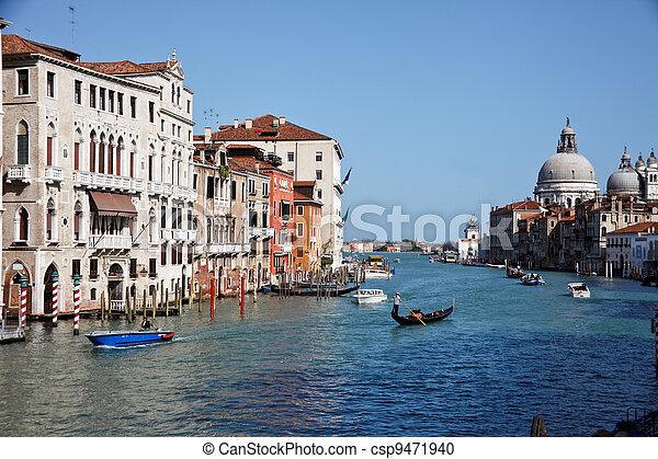 italy, venice, grand canal - csp9471940