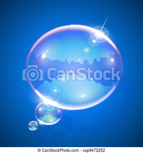 soap bubble for message - csp9472252