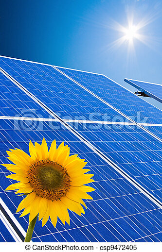 alternative solar energy. solar energy power plant - csp9472405