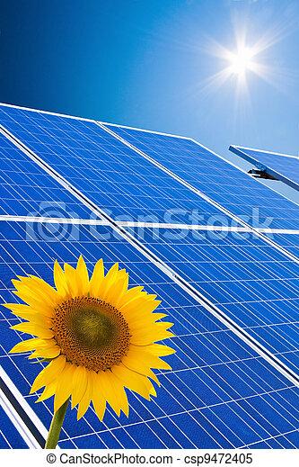 alternative solar energy. solar energy power plant - csp9472405