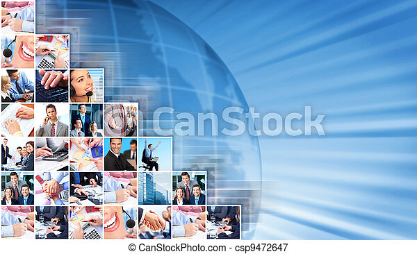 Business people collage background. - csp9472647