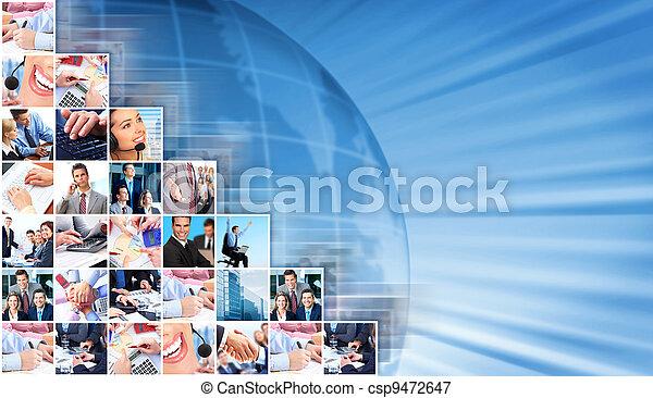 コラージュ, 背景, ビジネス, 人々 - csp9472647