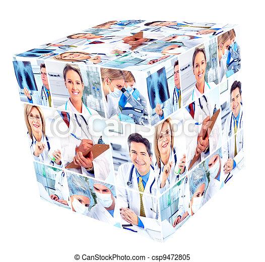médico, Grupo, pessoas - csp9472805