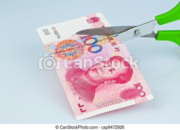 chinese yuan banknotes - csp9472926