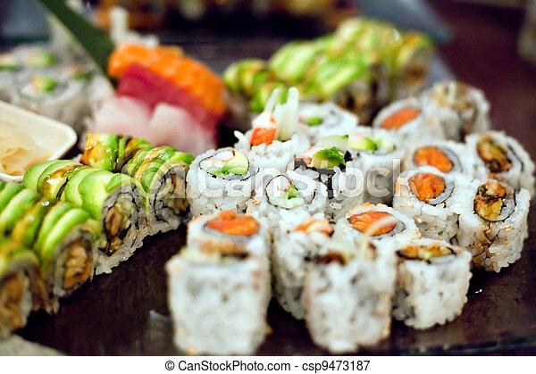 Sushi Rolls Variety - csp9473187