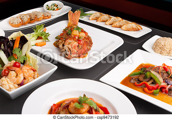 Assorted Spicy Thai Foods - csp9473192