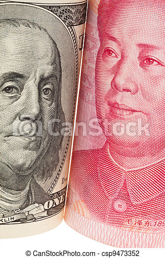 china business yuan and dollar - csp9473352