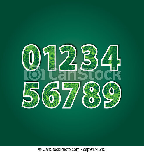 numbers - csp9474645