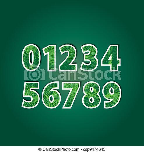 numbers - csp9474645