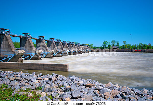 River Lock and Dam - csp9475026