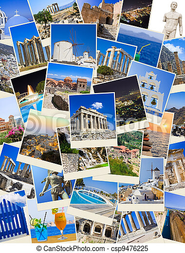 Stack of Greece travel photos - csp9476225