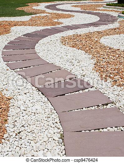 Photo de pierre chemin pierre jardin pattaya ville - Chemin de jardin en pierre ...