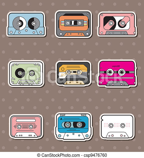 music Tapes stickers - csp9476760