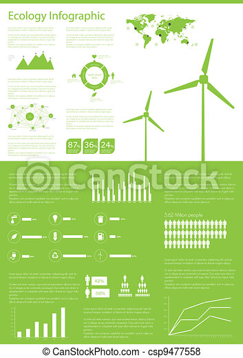 Ecology info graphics collection - csp9477558