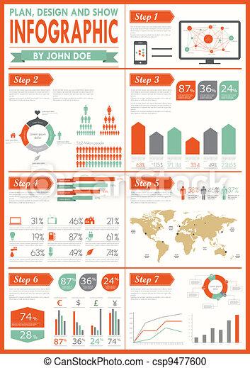 Vintage infographics set. - csp9477600