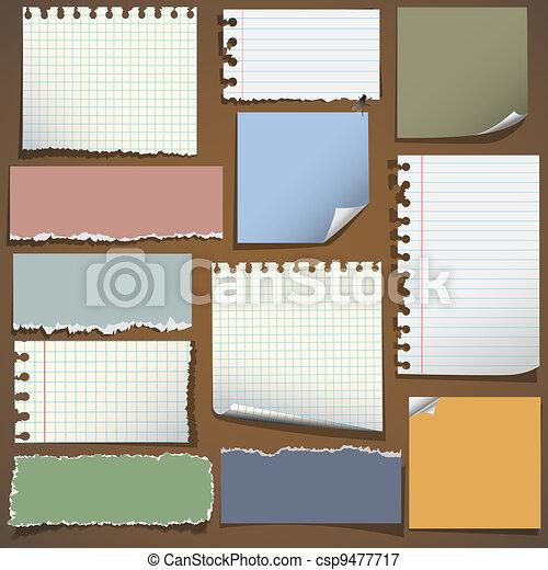Various notes paper - csp9477717