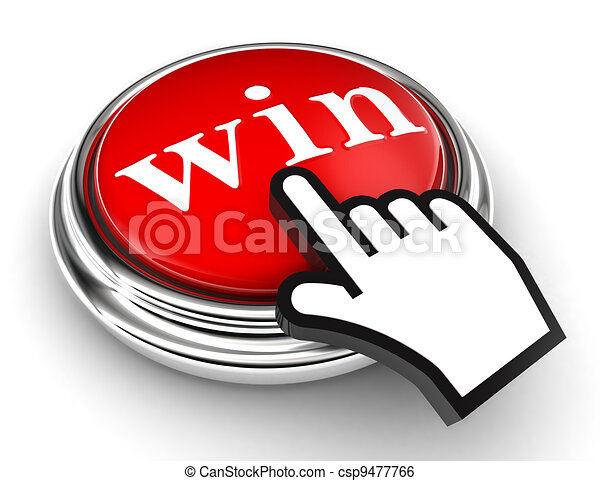 win red button and pointer hand - csp9477766