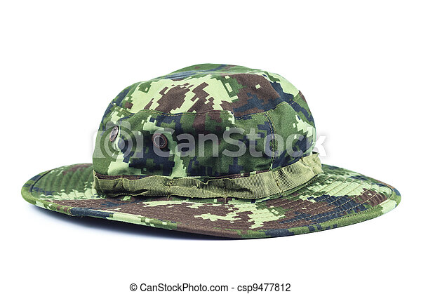 Military style hat. - csp9477812