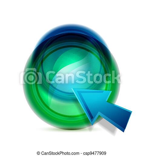Vector liquid button - csp9477909