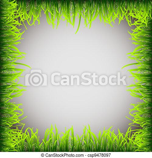 Grass frame - csp9478097