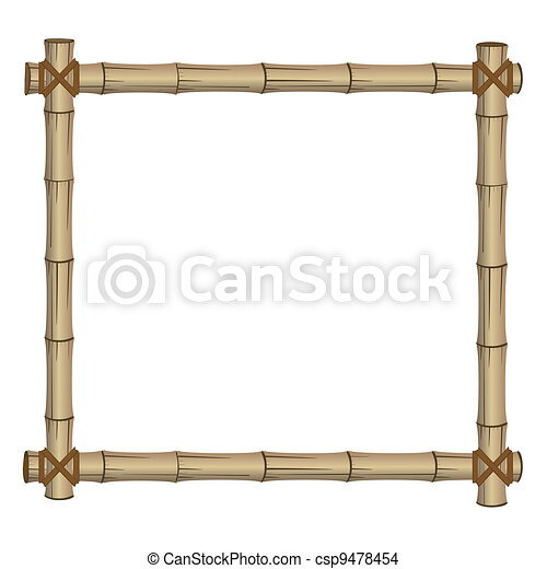 frame made of bamboo - csp9478454
