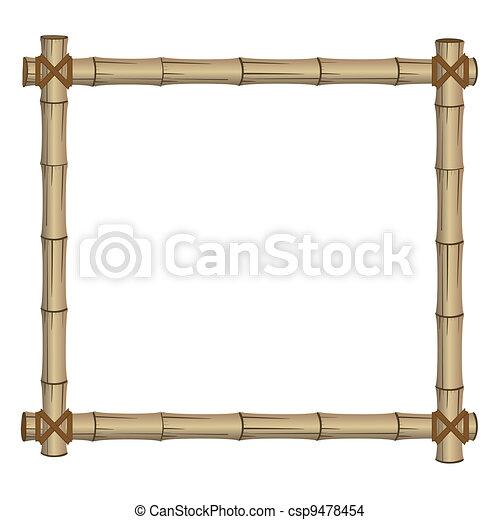 frame made of bamboo - csp9478454