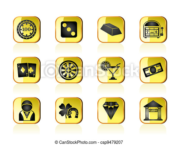 casino and gambling icons - csp9479207