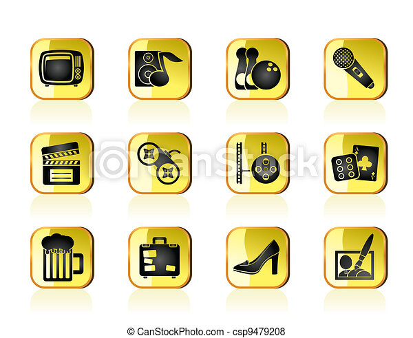 Leisure activity and objects icons - csp9479208