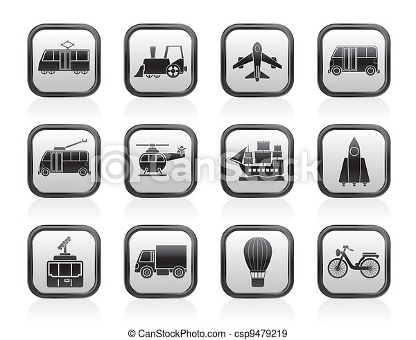 Travel and transportation icons - csp9479219