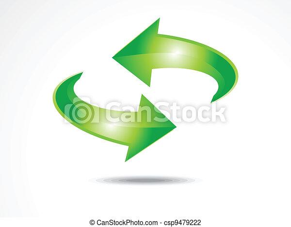 abstract refresh icon vector  - csp9479222