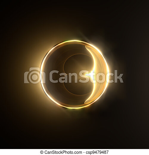 Golden shiny ring. - csp9479487