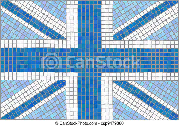 Union Jack blue - csp9479860