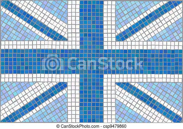 Union Jack blue - csp9479860