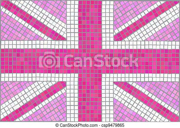 Union Jack pink - csp9479865