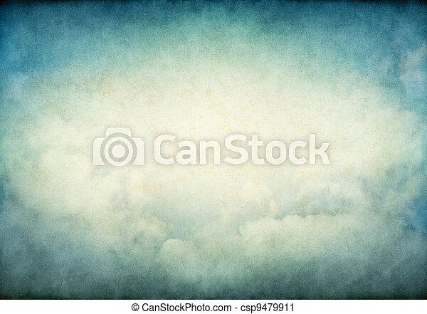 Glowing Vintage Clouds - csp9479911