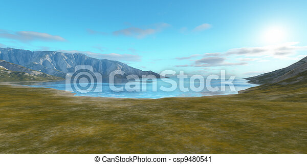 landscape without vegetation - csp9480541