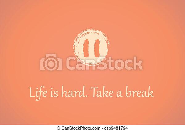 Take a Break Icon is Hard Take a Break Icon