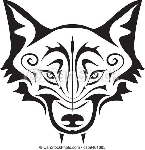Black Wolf Tattoo - csp9481885