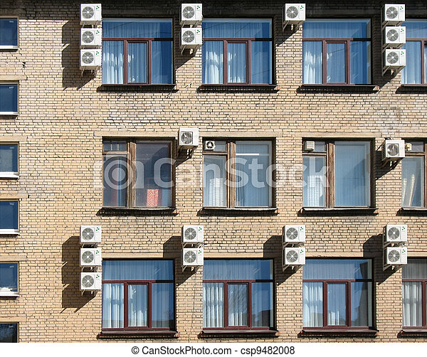 A house with air conditioning - csp9482008