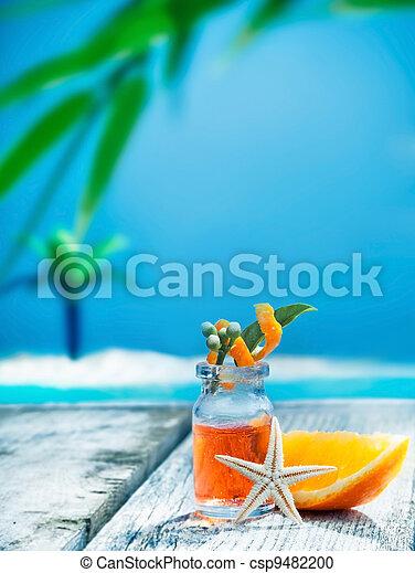 Orange essential oil treatment - csp9482200